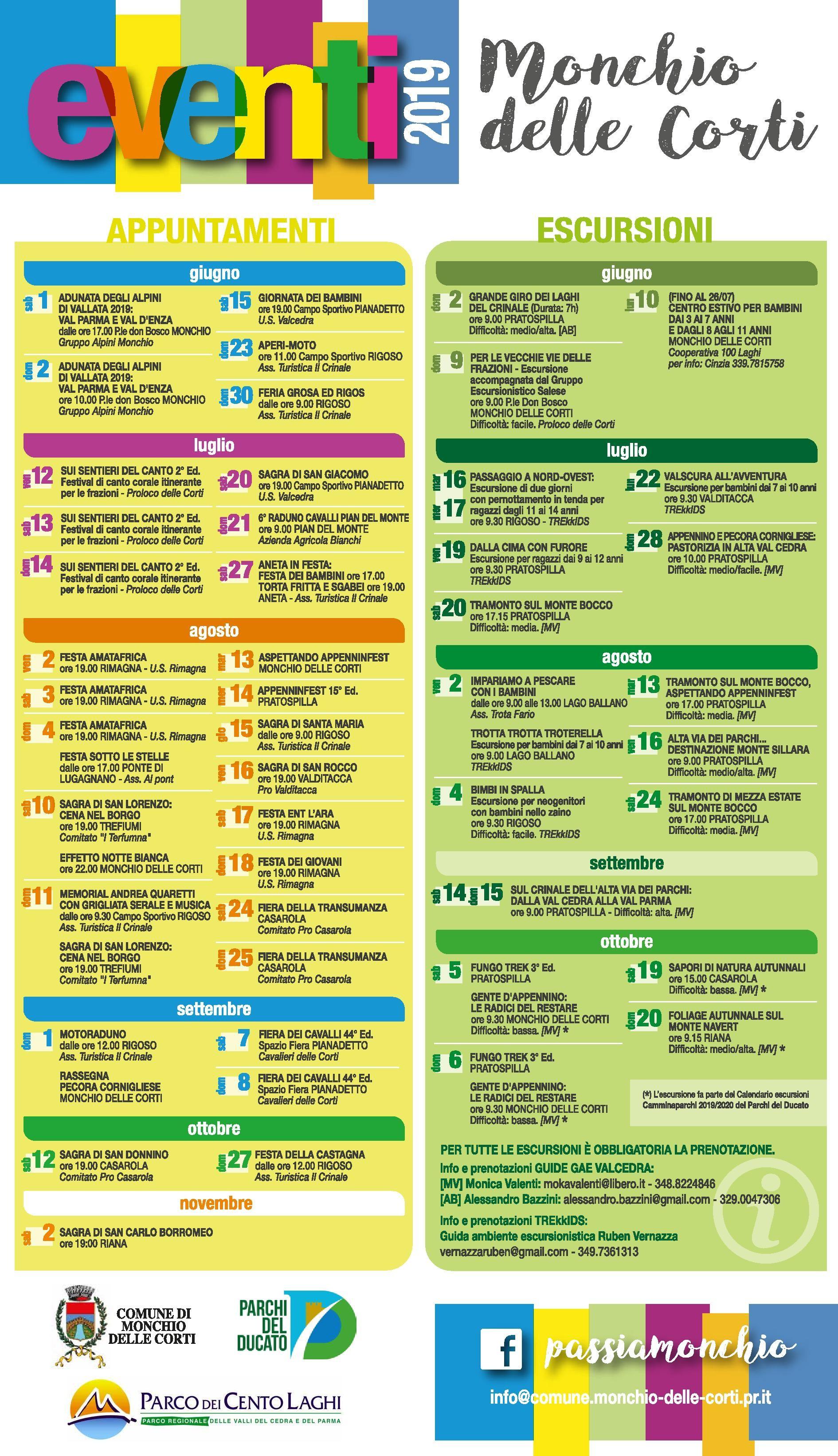 Calendario Fiere Agricole 2020.Eventi Anno 2019 A Monchio Delle Corti Nonsoloeventiparma