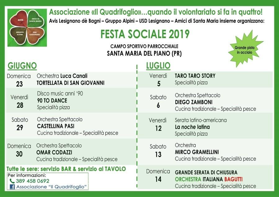 """FESTA SOCIALE 2019  Associazione """"Il Quadrifoglio"""""""
