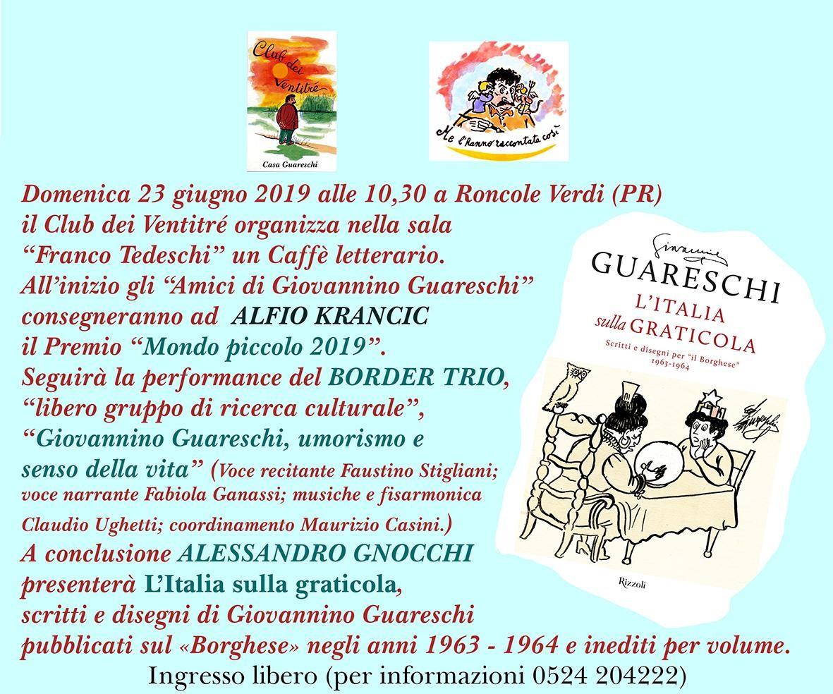 Caffè letterario organizzato dal club dei 23 (gli amici di Giovannino Guareschi)