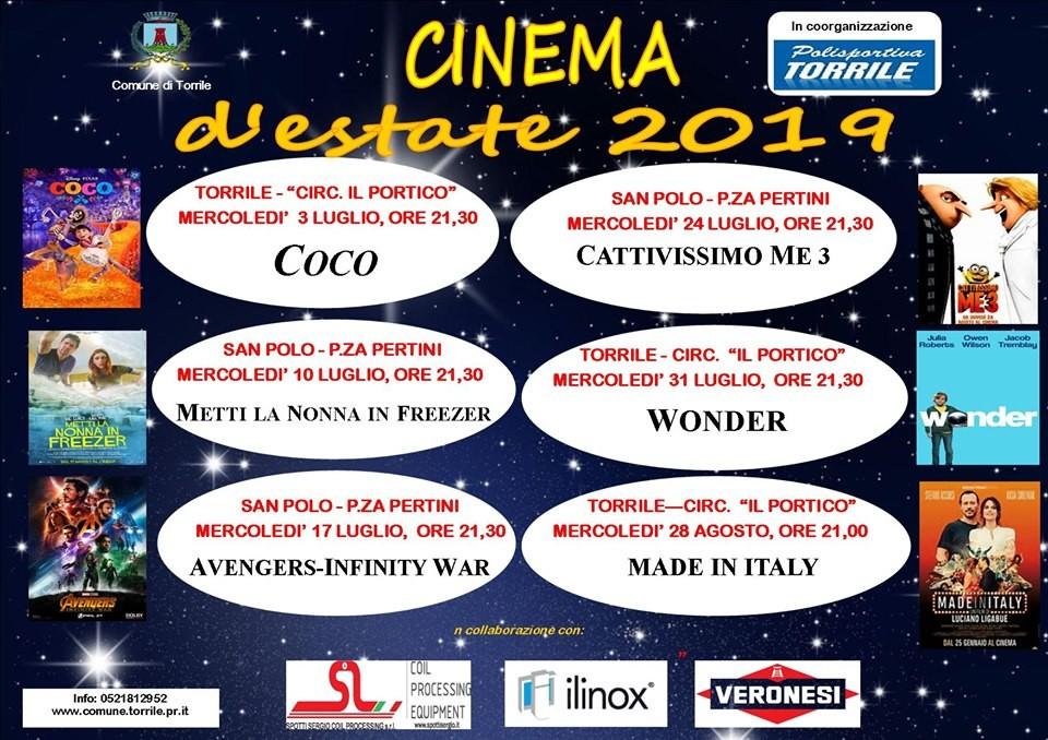 CINEMA D'ESTATE 2019 a Torrile