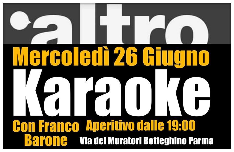 Karaoke Night all' Altro risto bar con Franco Barone