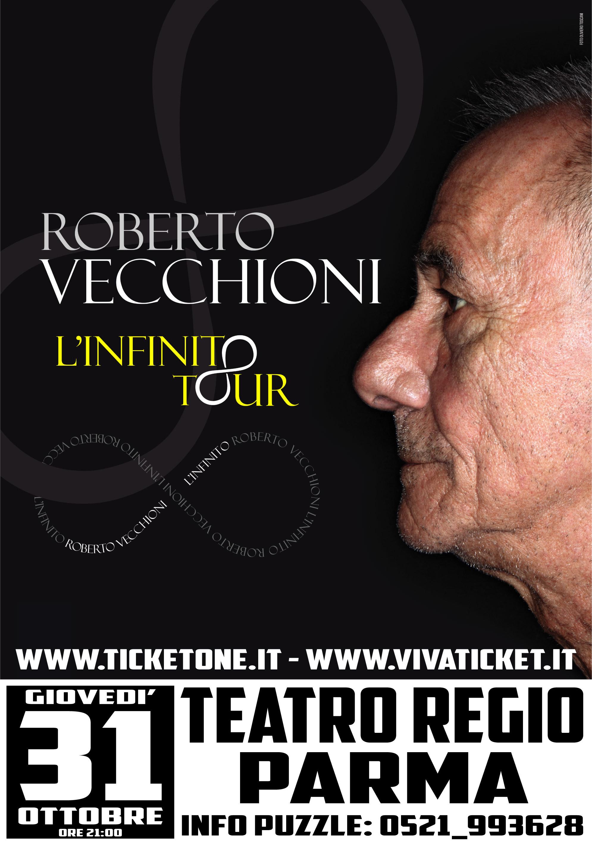 """Roberto Vecchioni in """"L'infinito tour"""" al Teatro Regio"""