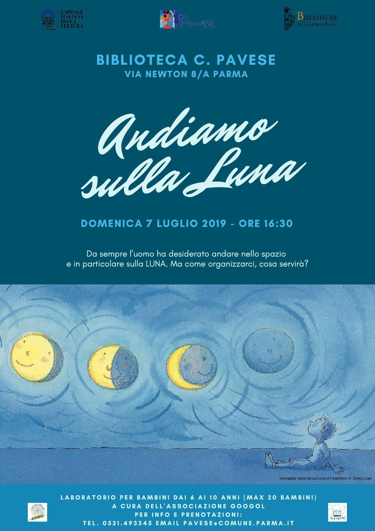 Andiamo sulla luna, laboratorio per bambini alla biblioteca Pavese