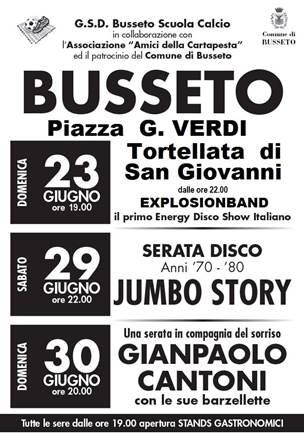 Serata Disco Jumbo Story anni '70-'80 – Gianpaolo Cantoni  a Busseto