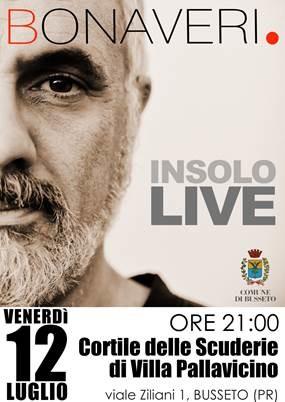 Bonaveri – Insolo Live nel Cortile delle Scuderie di Villa Pallavicino
