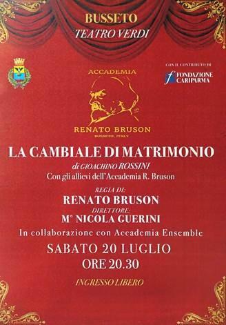 La cambiale di matrimonio di Gioacchino Rossini al Teatro Giuseppe Verdi- Busseto