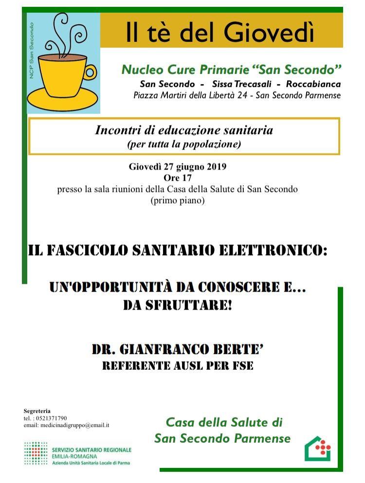 Il tè del giovedi: Fascicolo Sanitario Elettronico