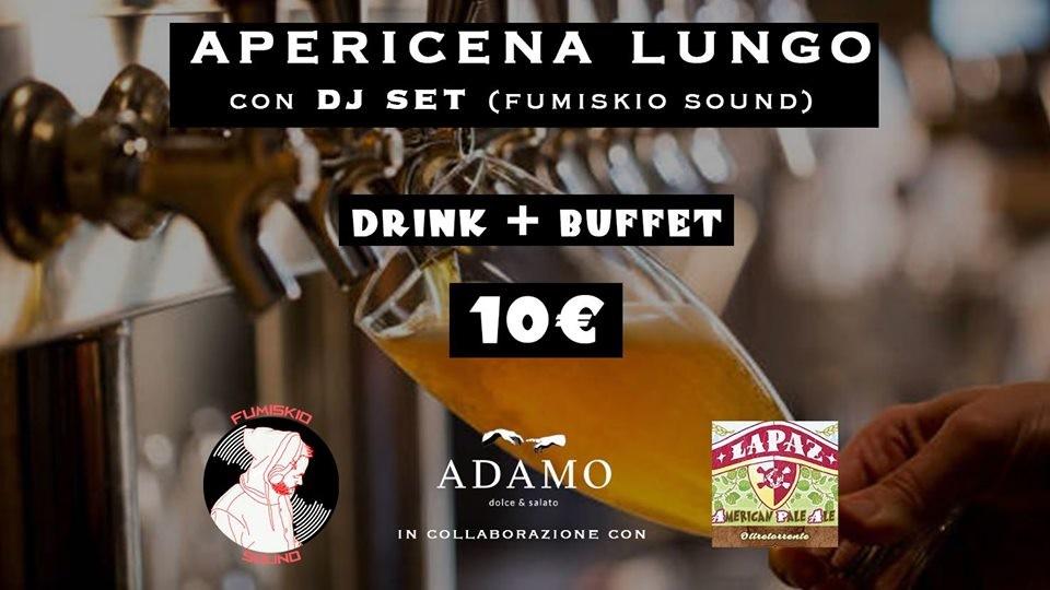 Apericena Lungo con Fumiskio Sound & Birra LAPAZ da ADAMO