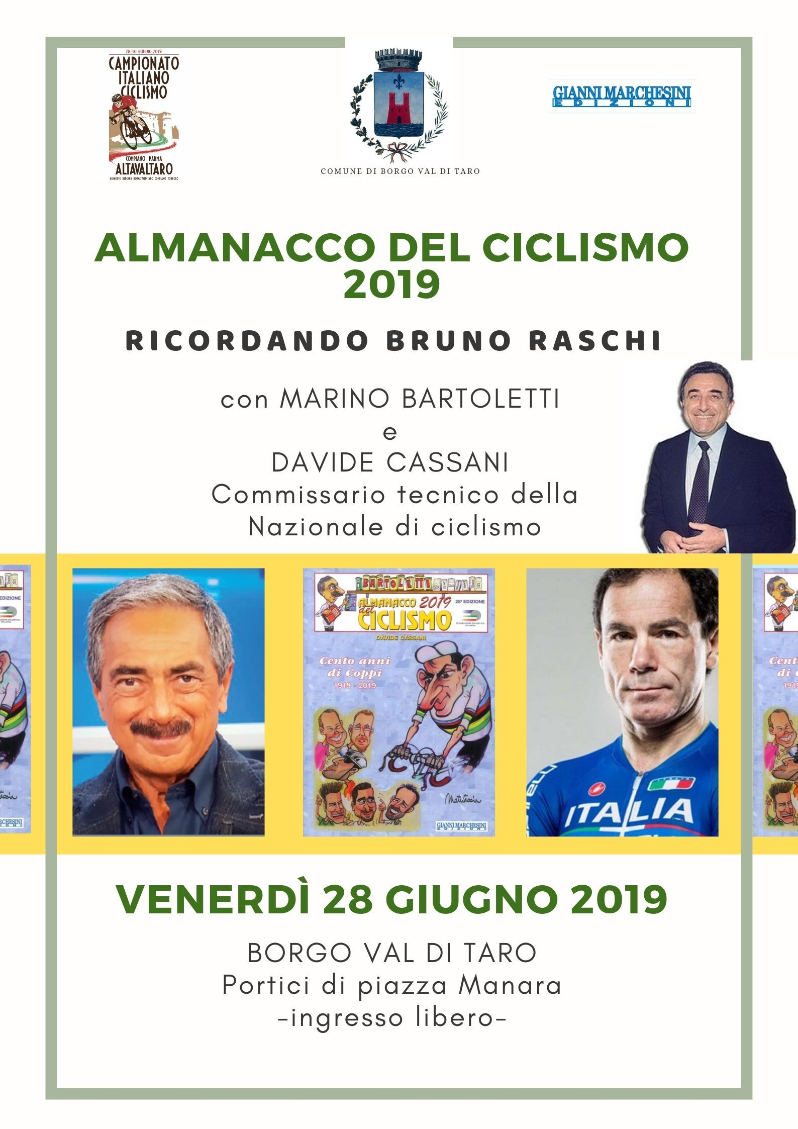Presentazione dell'Almanacco del Ciclismo 2019.