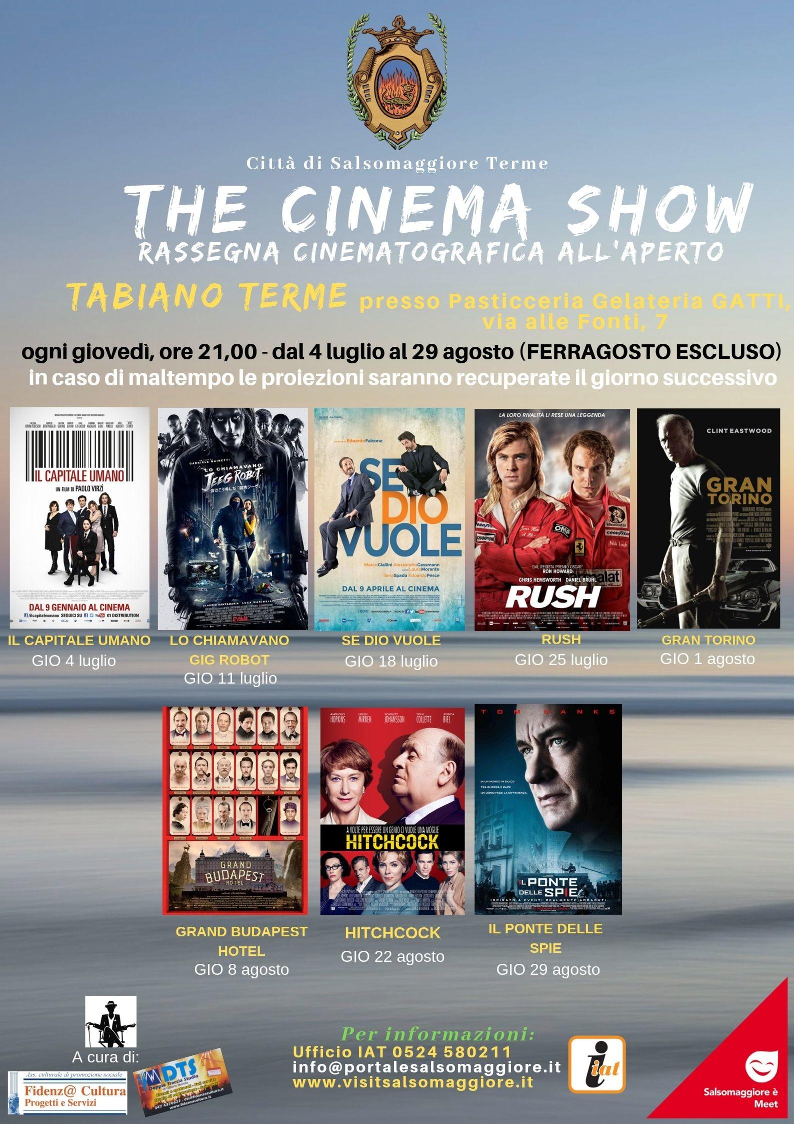 """""""The cinema show"""" a Tabiano"""