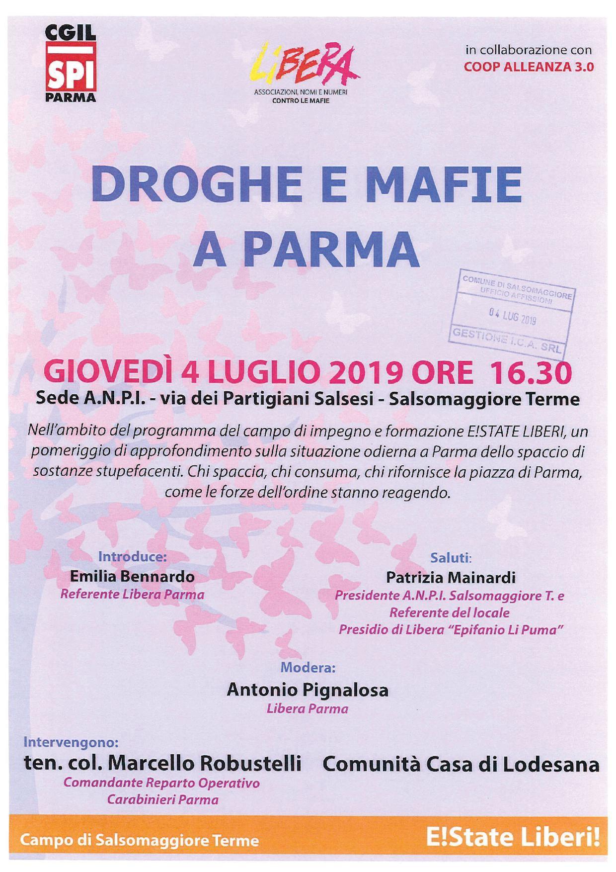 Droghe e mafie a Parma