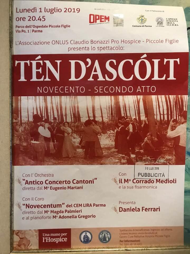 """""""TÉN D'ASCÓLT"""" NOVECENTO- SECONDO ATTO"""