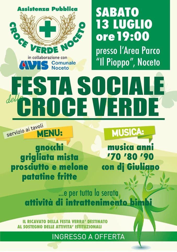 Festa sociale Croce Verde