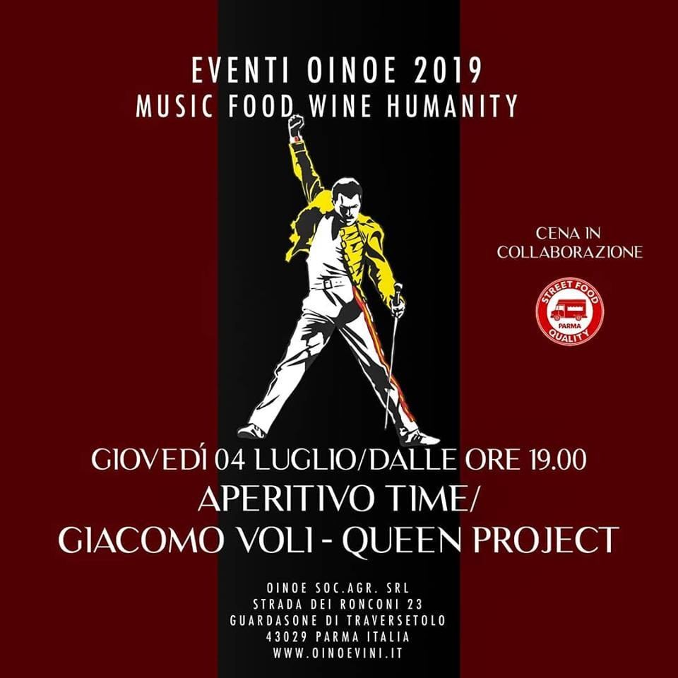 Da OINOE aperitivo time con Giacomo Voli Queen project