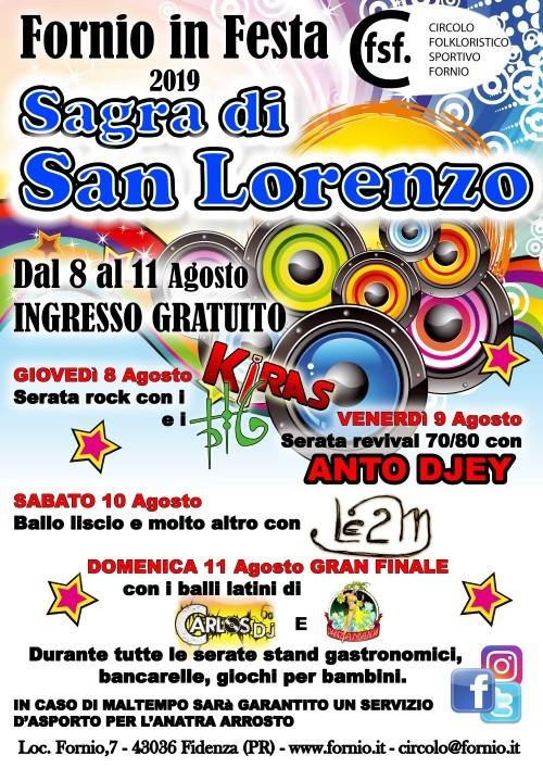 """Fornio in festa 2019: Sagra di San Lorenzo""""."""