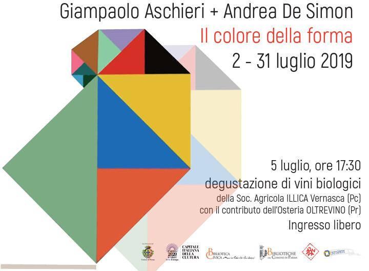 IL COLORE DELLA FORMA mostra di  Giampaolo Aschieri e Andrea De Simon