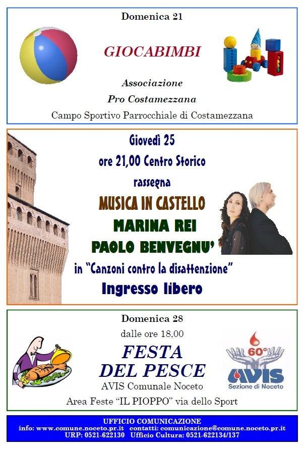 Eventi a Noceto dal 21 al 28 luglio