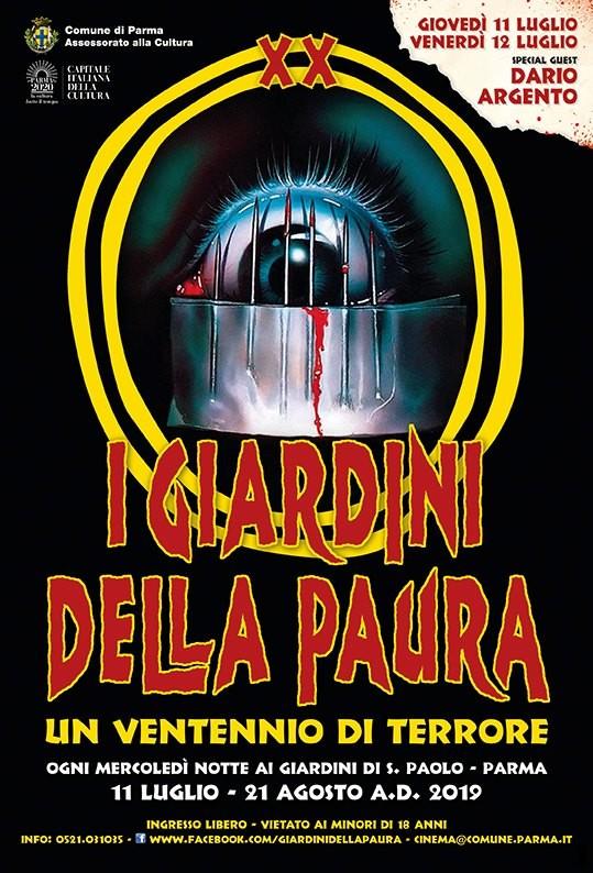 I Giardini della Paura, la XX edizione  Un Ventennio di terrore.Inaugurazione con Dario Argento