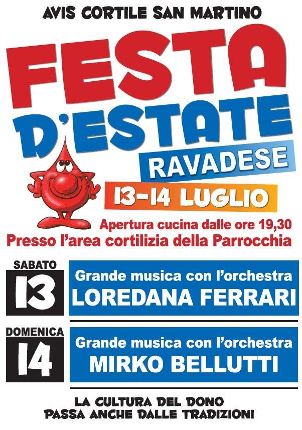 AVIS Cortile San Martino FESTA D'ESTATE a Ravadese