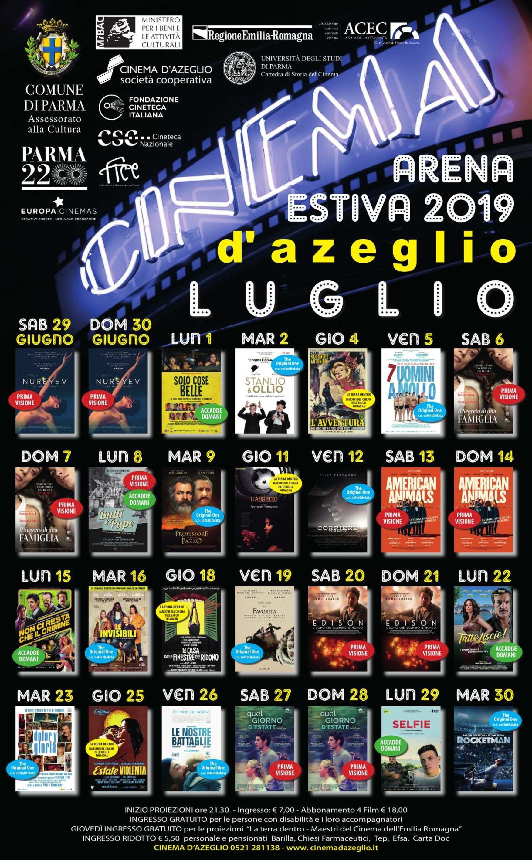 Programma luglio del Cinema D'Azeglio arena estiva