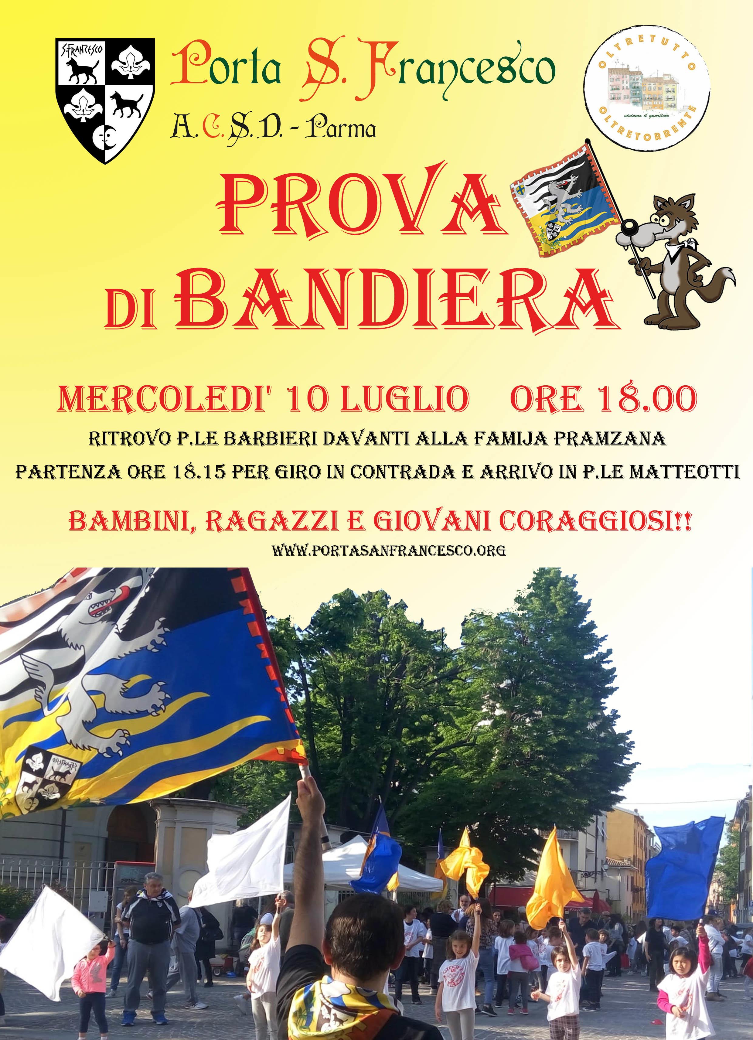 Prova di Bandiera organizzata da Porta San Francesco