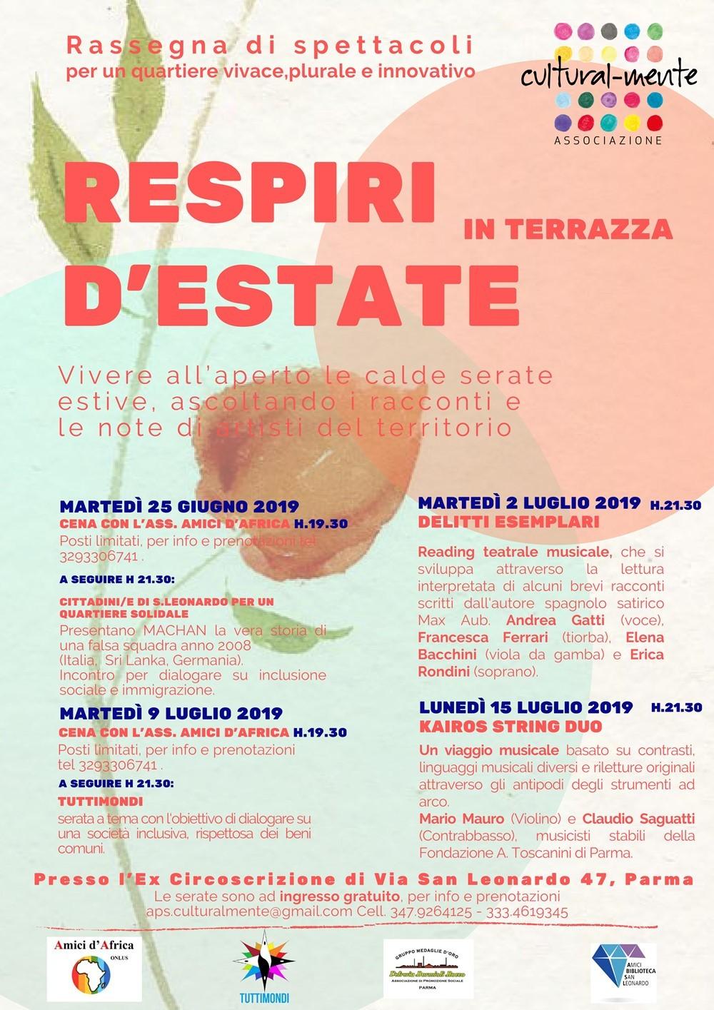 Respiri d'estate, rassegna di spettacoli a San Leonardo