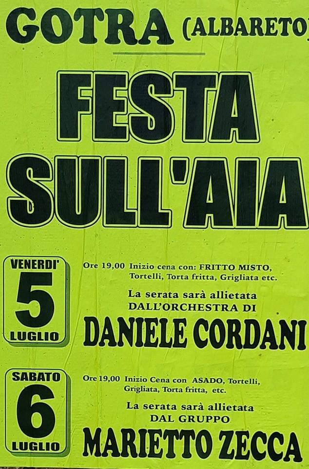 Festa sull'Aia a Gotra di Albareto