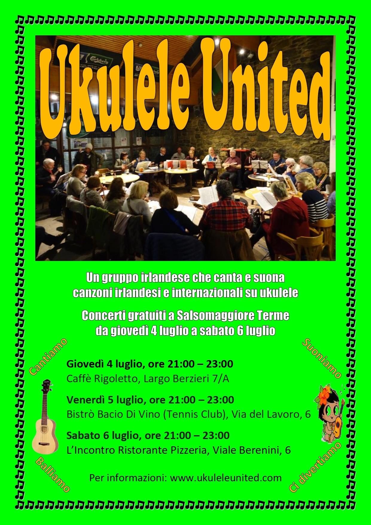 Ukulele United dall'Irlanda  alla Pizzeria L'Incontro
