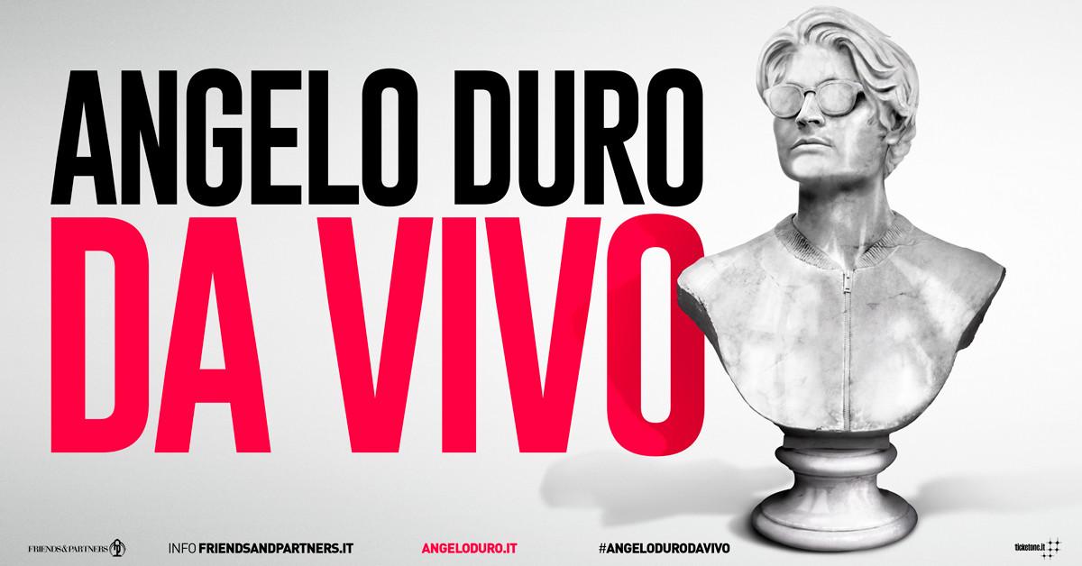 """ANGELO DURO    CON IL NUOVO LIVE SHOW """"DA VIVO""""   all' Auditorium Paganini"""