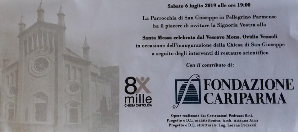 Inaugurazione della Chiesa di San Giuseppe a Pellegrino Parmense