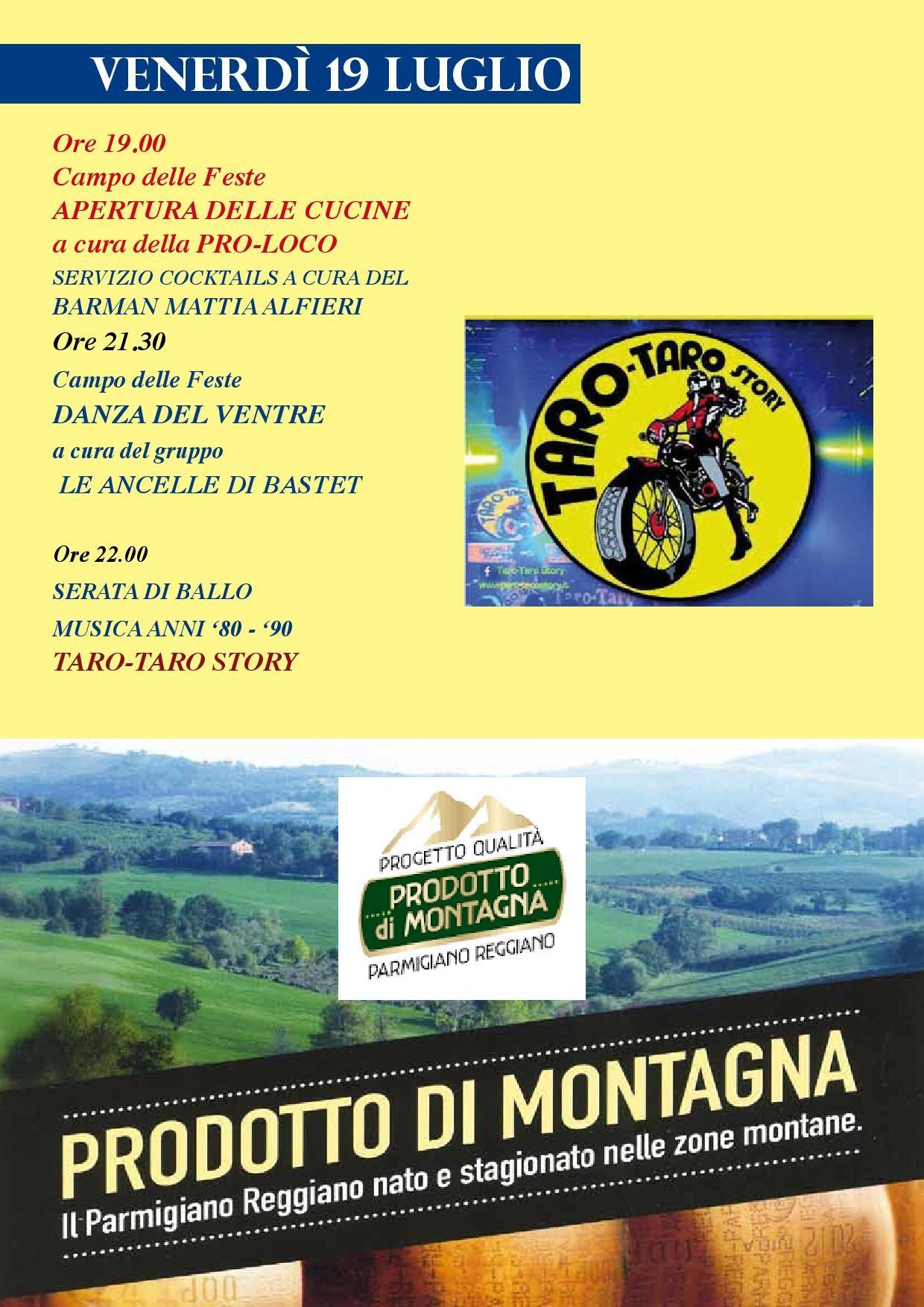 Fiera del Parmigiano Reggiano di Montagna a Pellegrino Parmense, programma del 19 luglio