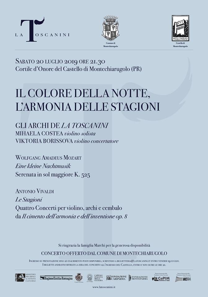 LA TOSCANINI in concerto al castello di Montechiarugolo