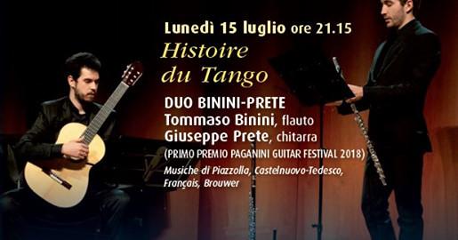 Un pizzico di luna: Histoire Du Tango con il Duo Binini- Prete (Tommaso Binini al flauto e Giuseppe Prete alla chitarra)