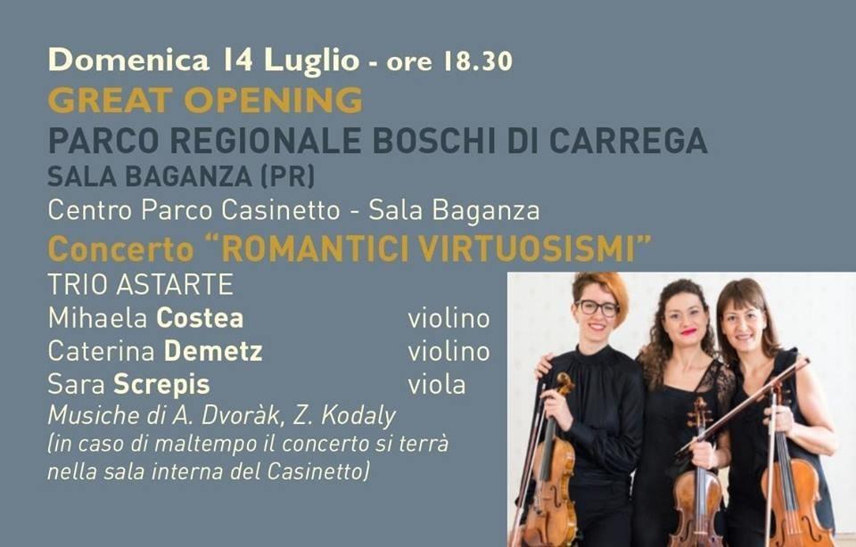 """Concerto """"Romantici Virtuosismi"""" ai Boschi di Carrega"""