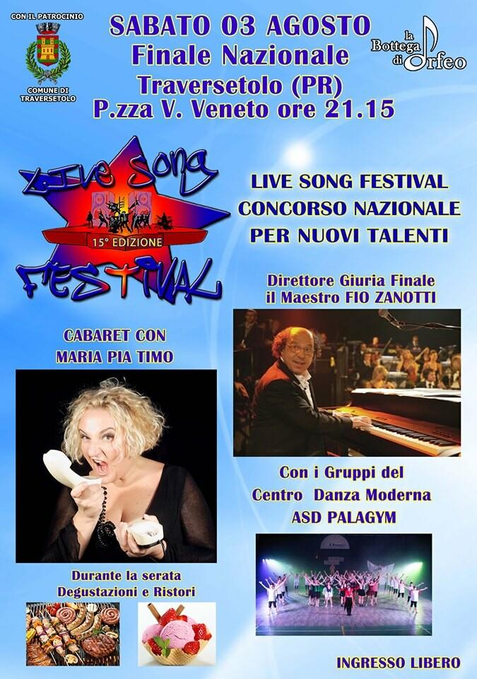 Live Song Festival a Traversetolo, concorso nazionale per nuovi talenti