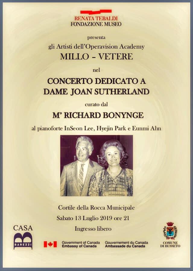 Concerto lirico curato da M° Richard Bonynge