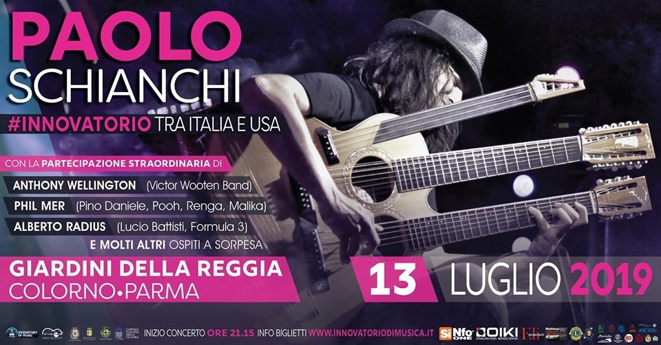 PAOLO SCHIANCHI e l'INNOVATORIO DI MUSICA - Tra Italia e Stati Uniti Concerto alla Reggia di Colorno