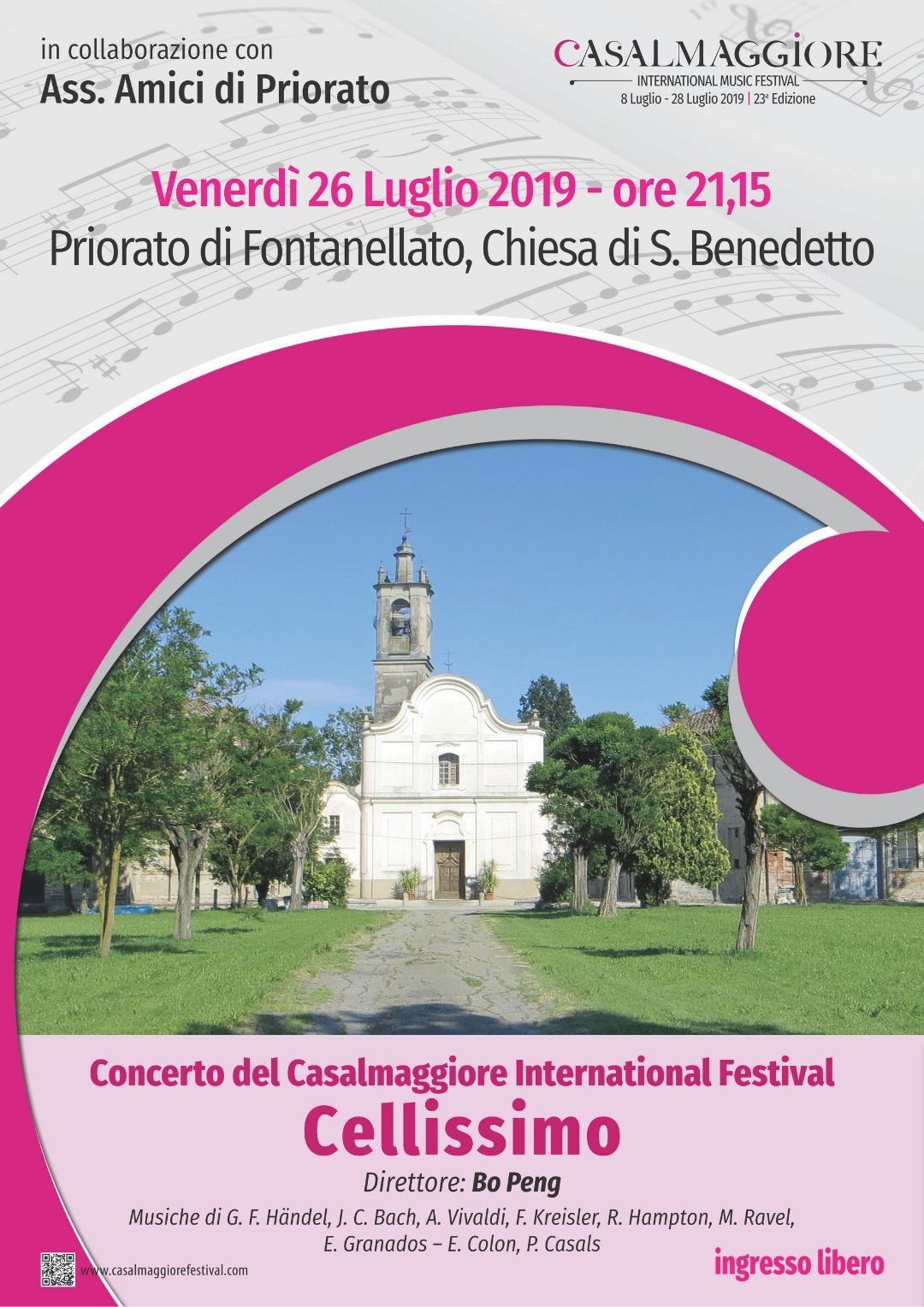 """Concerto del Casalmaggiore International Festival """"CELLISSIMO"""" nella chiesa di SanBenedetto in Priorato"""
