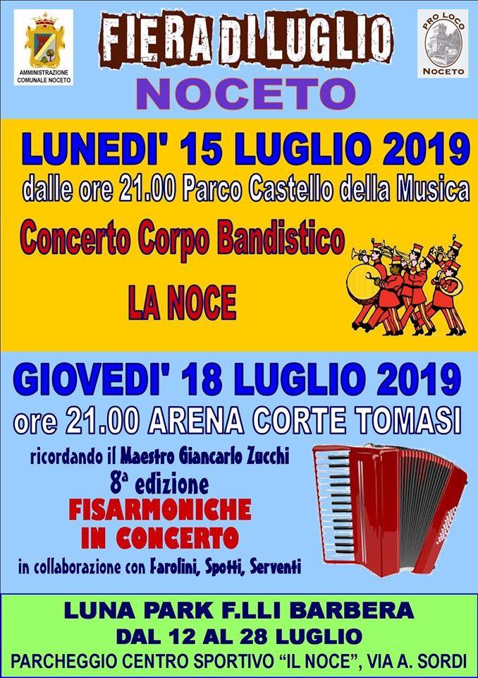 Fiera di luglio di Noceto: concerti