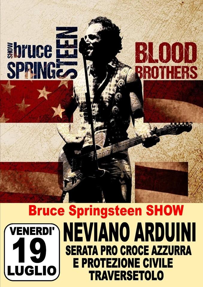 Bruce Springsteen show Serata PRO CROCE AZZURRA E PROTEZIONE CIVILE Traversetolo