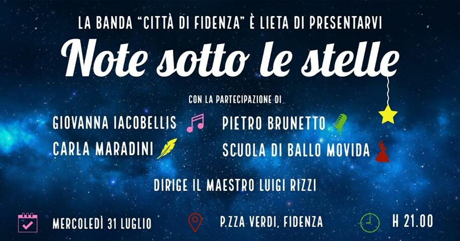 Note sotto le stelle a Fidenza