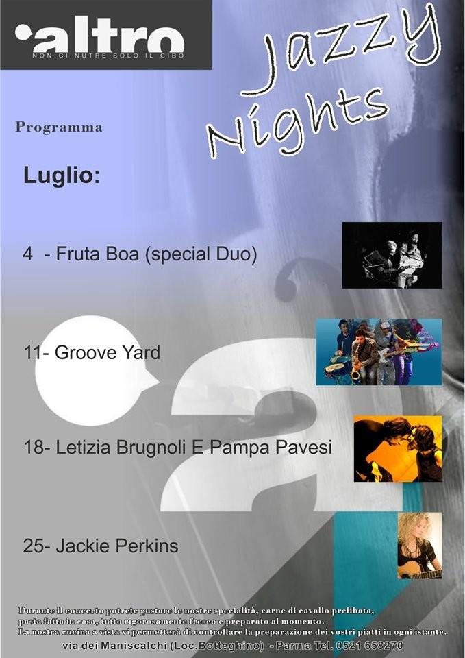 Jazzy Night all'Altro ristobar , ogni giovedì nello SPAZIO ESTIVO