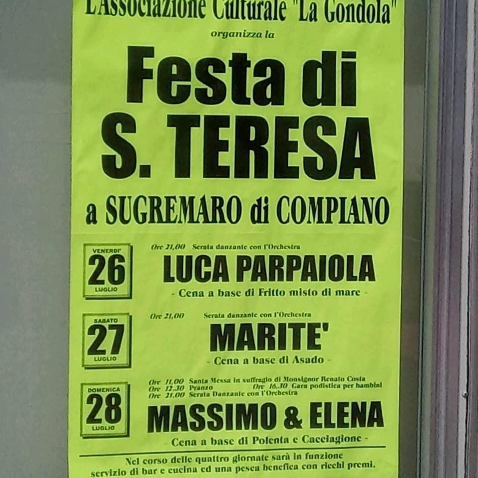 Festa di Santa Teresa a Sugremaro