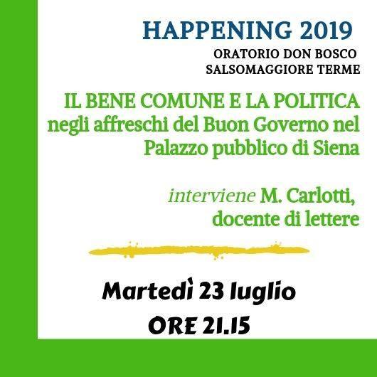 Happening Oratorio don Bosco Salsomaggiore Terme: Il bene comune e la politica