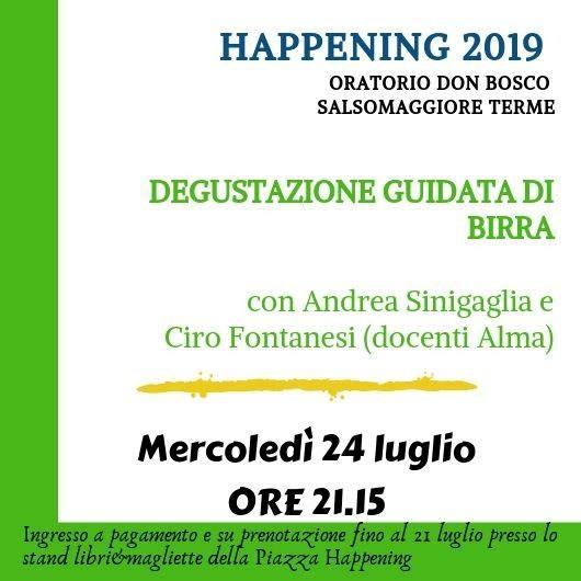 Happening Oratorio don Bosco: Degustazione guidata di birra con Andrea Sinigaglia direttore ALMA