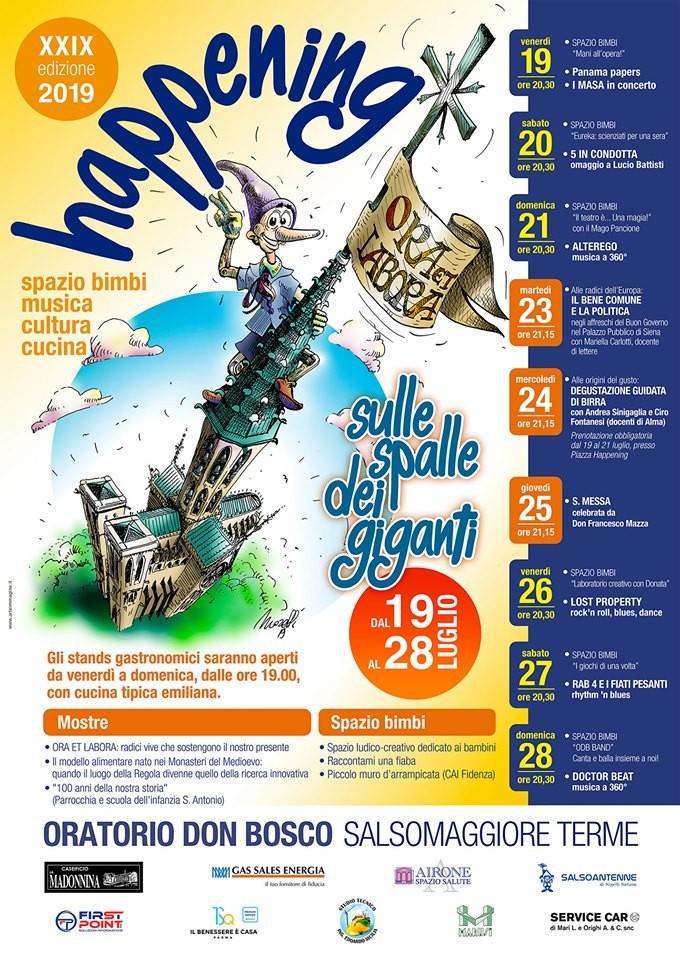 Happening Oratorio don Bosco Salsomaggiore Terme: programma