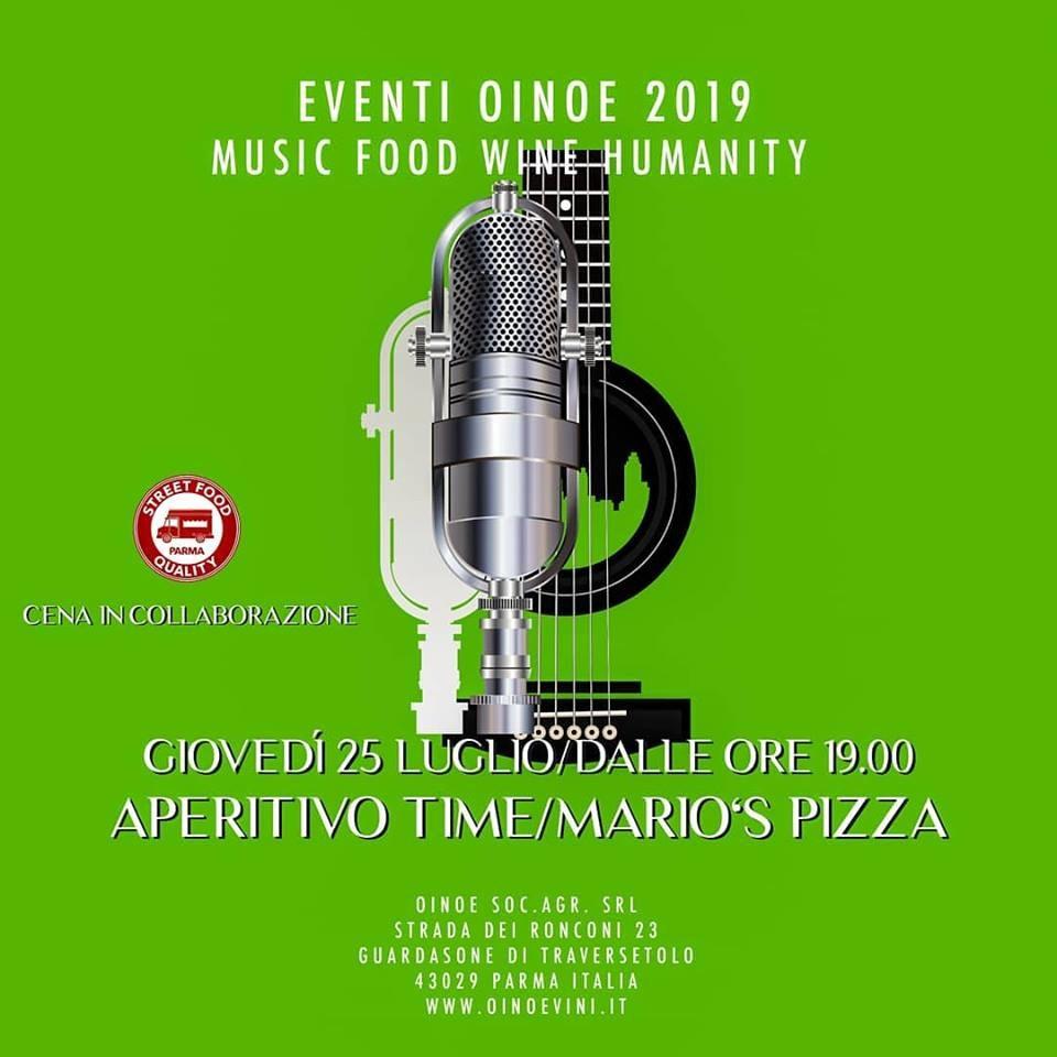 Apericena in cantina da Oinoe con i Mario's Pizza gruppo rock