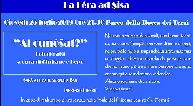 La Féra ad Sisa - Sissa Sagra di San Giacomo: Al cunóšat