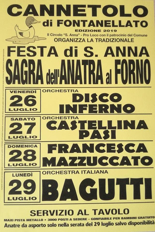 SAGRA dell' anatra al FORNO - FESTA di S. ANNA a Cannetolo