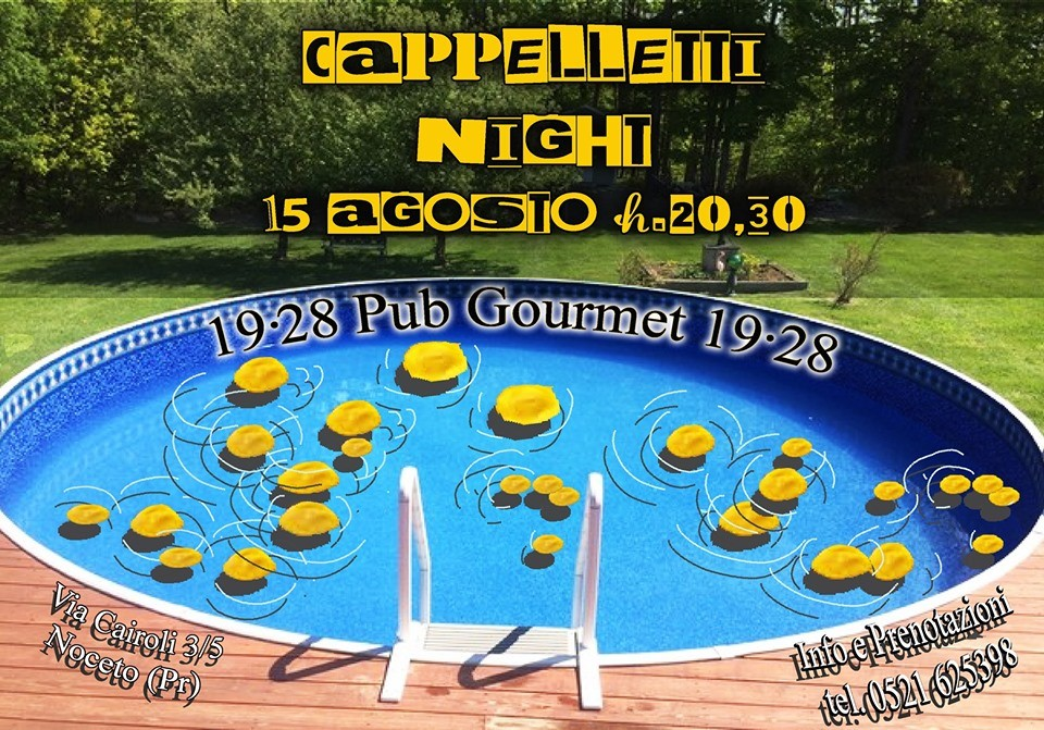 Cappelletti night al 19.28 pub gourmet